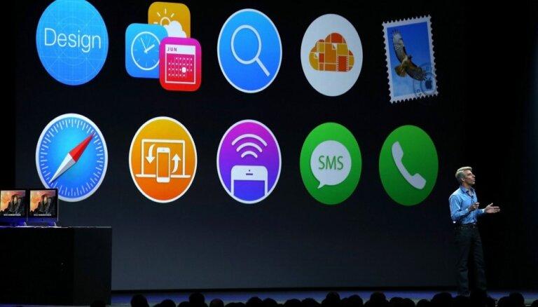 'Apple' izziņo jaunas operētājsistēmu versijas datoriem un mobilajām ierīcēm