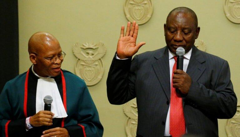 Dienvidāfrikas prezidenta amatā ievēlēts Sirils Ramaposa