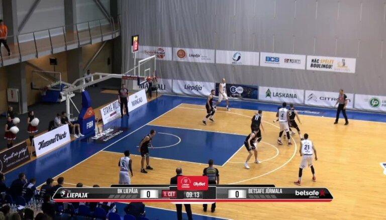 'OlyBet' basketbola līga: 'Liepāja' - 'Betsafe/Jūrmala'. Spēles labākie momenti (24.11.2018.)