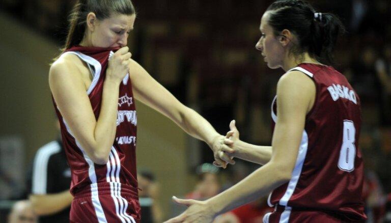 Latvijas basketbolistēm otrajā aplī garantēta vismaz trešā vieta F grupā