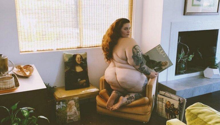 ФОТО: Самая тучная в мире модель сняла себя топлесс