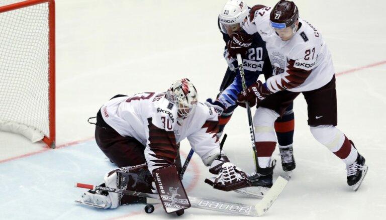 Сборная Латвии заработала одно очко в матче с американскими звездами НХЛ
