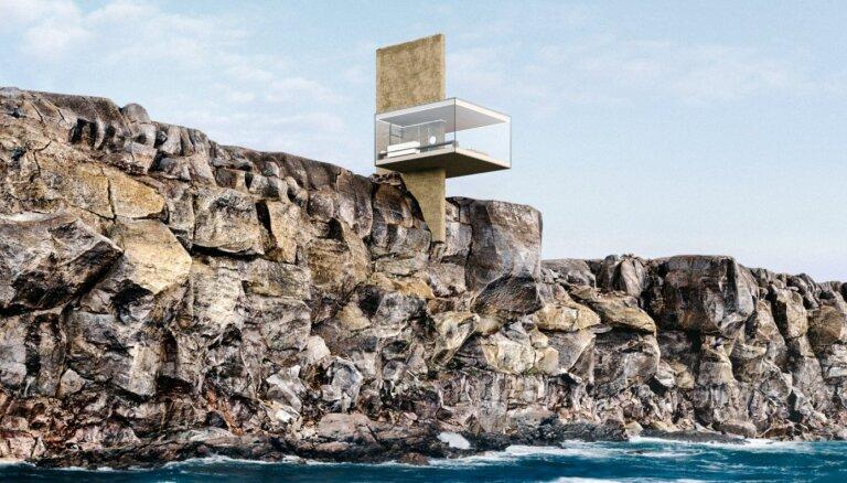 Neiespējamā arhitektūra: gaisa nams kā klints pārkare virs bangojoša okeāna