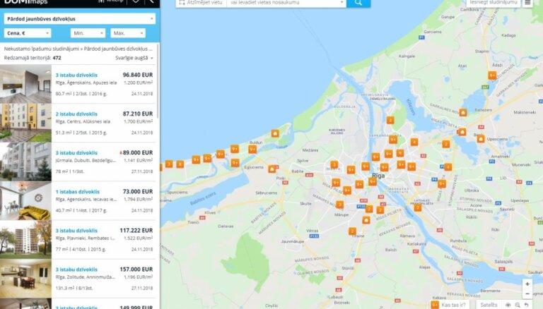 Dzīvokļu sludinājumi - jaunie projekti Rīgā un Jūrmalā