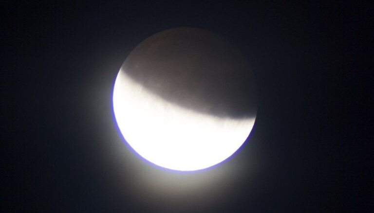 Foto: Daļējs Mēness aptumsums aculiecinieka acīm