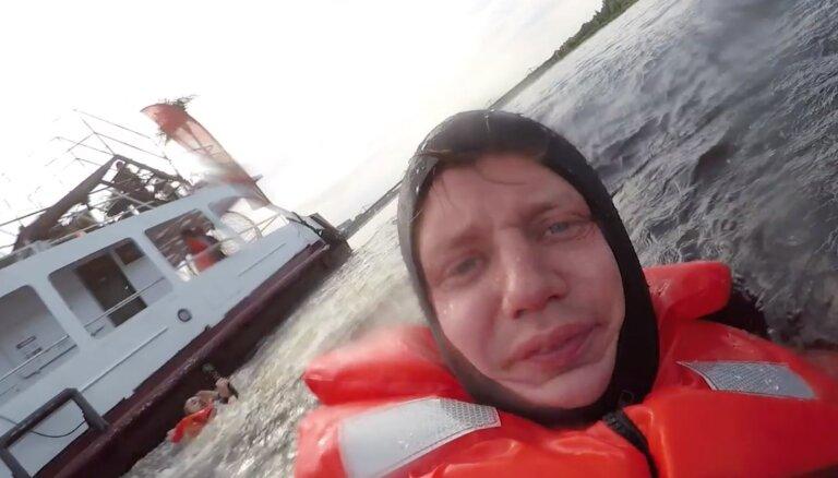Video: VUGD glābšanas uz ūdens operācija no glābjamā skatupunkta