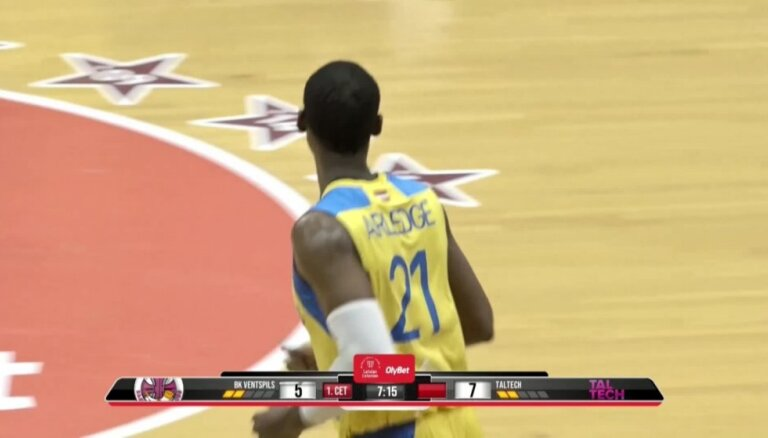 'OlyBet' basketbola līga: 'Ventspils' - 'Tal Tech'. Spēles labākie momenti