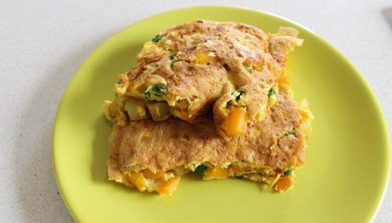 Gaisīgā dārzeņu omlete