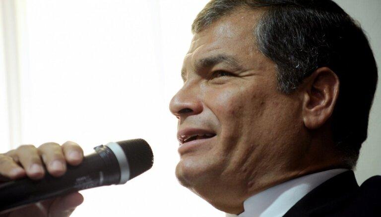 Ekvadoras eksprezidents Rafaels Korrea lūdzis politisko patvērumu Beļģijā