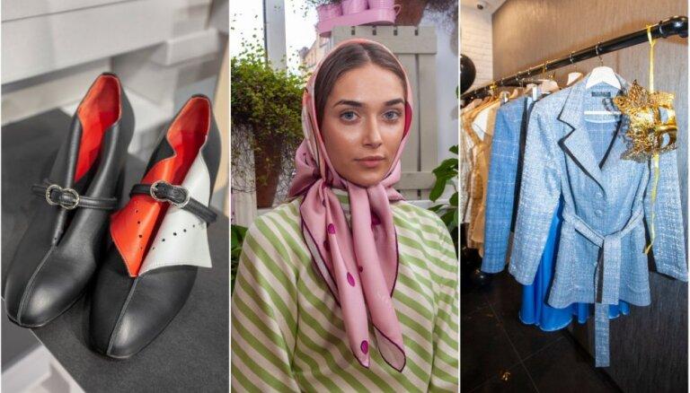 Rīgas modes nedēļas otrā diena: pašmāju dizaineri prezentē košumus savos veikalos