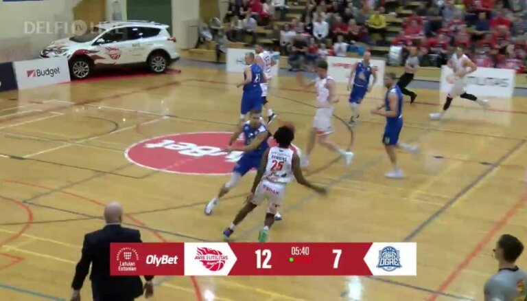 'OlyBet' basketbola līga: 'Avis Utilitas' - 'Ogre'. Spēles labākie momenti (16.03.2019.)
