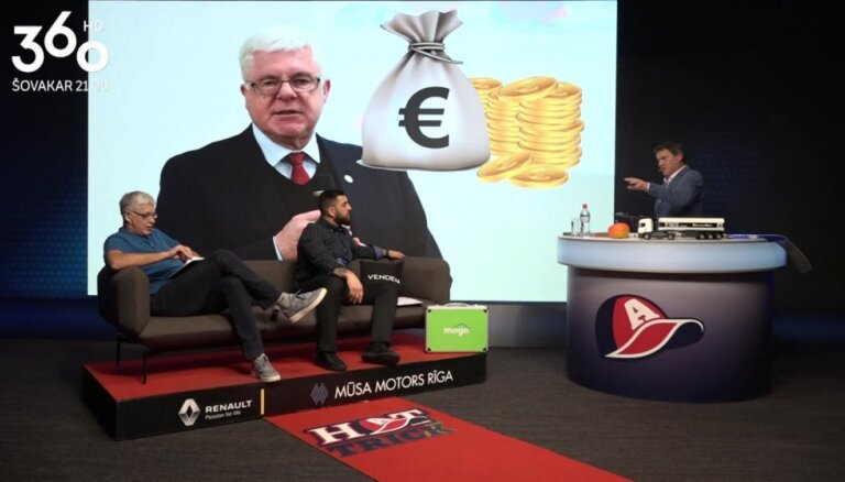 Raidījuma 'Hattrick' vadītāji slavē Vrubļevski par viltību sporta finansējuma meklēšanā