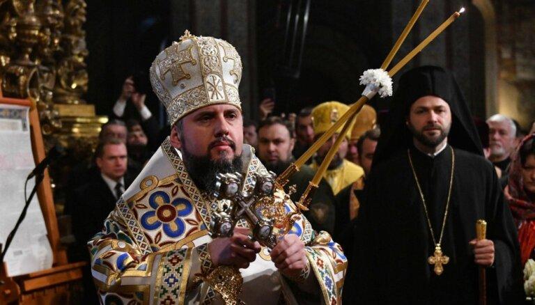 Stājas amatā jaunās Ukrainas pareizticīgās baznīcas vadītājs