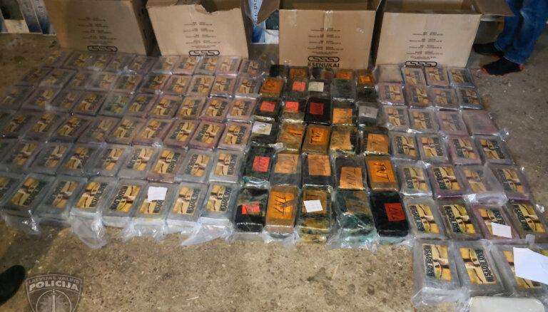 Найденный в Кокнесе кокаин был ввезен в Европу как продукты питания