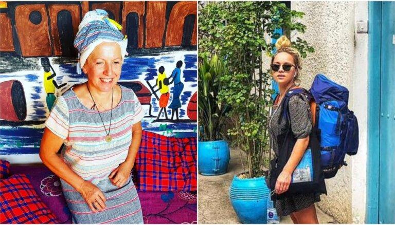 Foto: Olgas Rajeckas un Aijas Andrejevas piedzīvojumi Tanzānijā