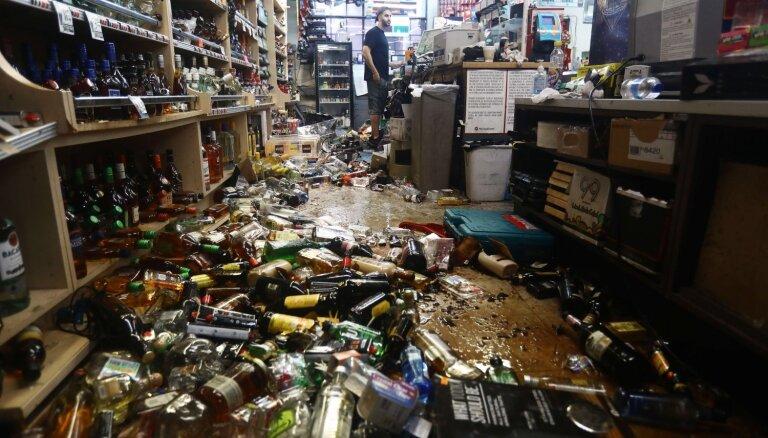 Foto: Dienvidkaliforniju satricinājusi 7,1 magnitūdu stipra zemestrīce