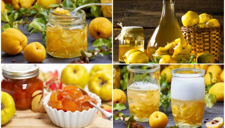 Vitamīnu trieciendeva burciņā: 11 idejas, kā pagatavot cidonijas ziemas krājumiem