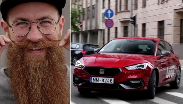 Video: Atraktīvais Miķelis Visockis izmēģina jauno 'SEAT Leon'