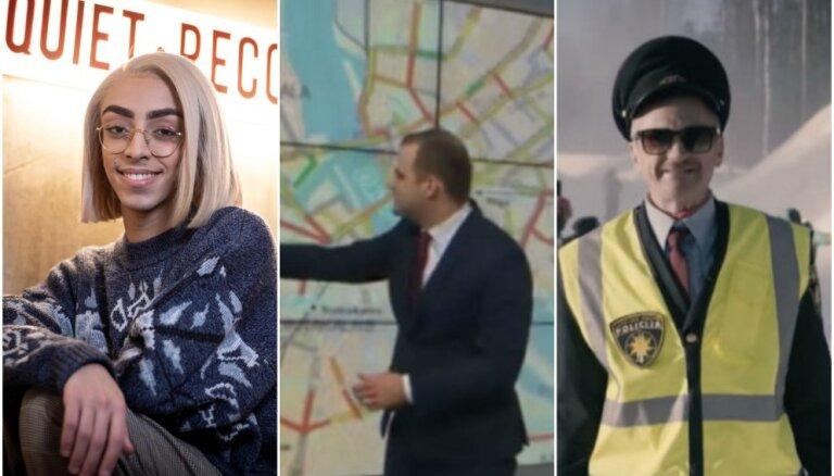 Nedēļas trakumi: androgīns 'Eirovīzijā', dramatiskie Rīgas sastrēgumi, kokaīna kravas iznīcināšana
