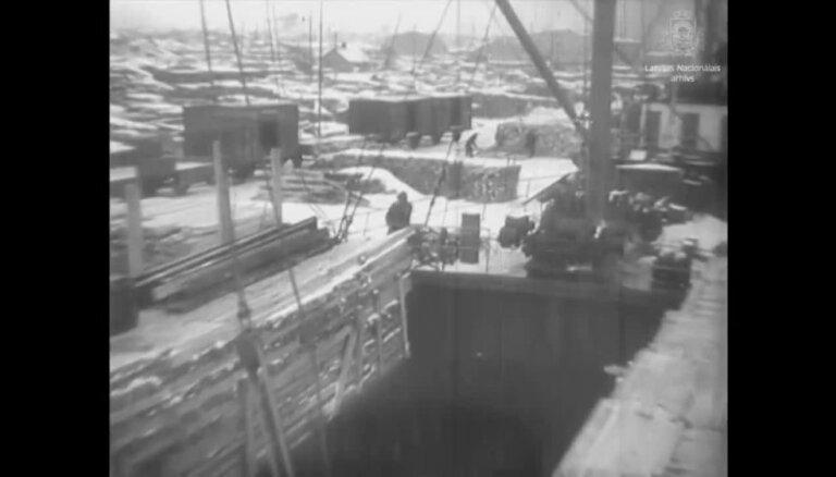 Ceļojums laikā: Kāda rosība valdīja Rīgas ostā 1938. gadā