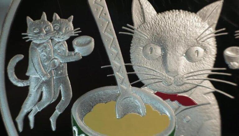Latvijas Banka izlaiž kolekcijas monētu 'Pasaku monēta I. Pieci kaķi'