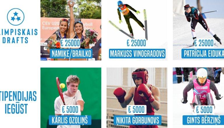Nosaukti sporta talantu programmas 'Olimpiskais drafts' finansiālā atbalsta ieguvēji