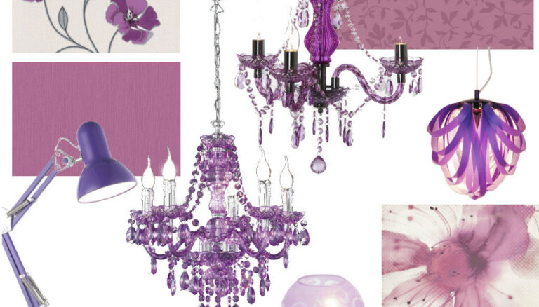 Foto: Gada krāsa – starojoši violetā arī mājas interjerā
