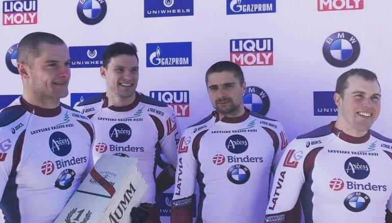 Блестящая двойная победа латвийского бобслея в Санкт-Морице