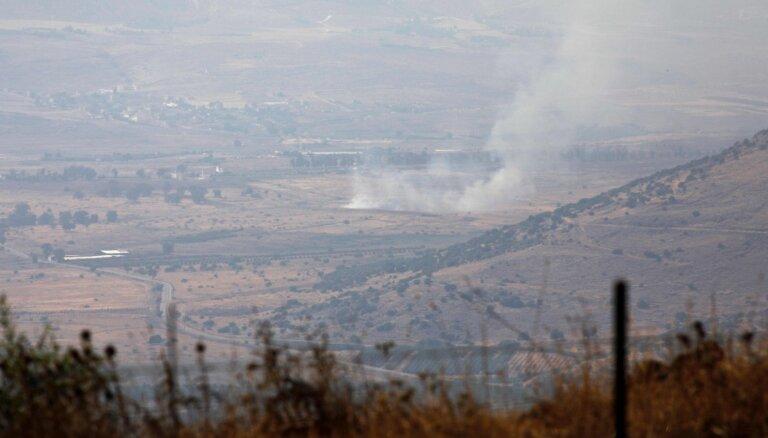 Uz Izraēlas un Libānas robežas notiek kauja