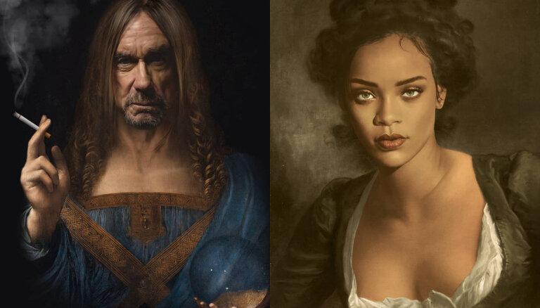 ФОТО: Рианна кисти Рембрандта? Как могли бы выглядеть звезды на портретах великих живописцев прошлого