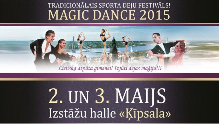 Grandiozais sporta deju pasākums 'Magic Dance 2015'