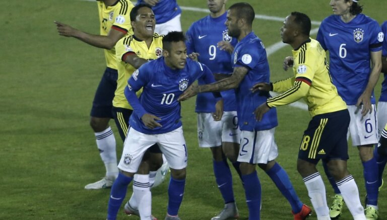 Первое поражение Бразилии после ЧМ-2014, у Неймара сдали нервы (ВИДЕО)