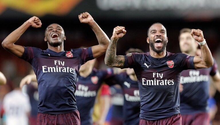 Anglijas klubi dominē Eirokausos –'Arsenal' un 'Chelsea' iekļūst UEFA Eiropas līgas finālā
