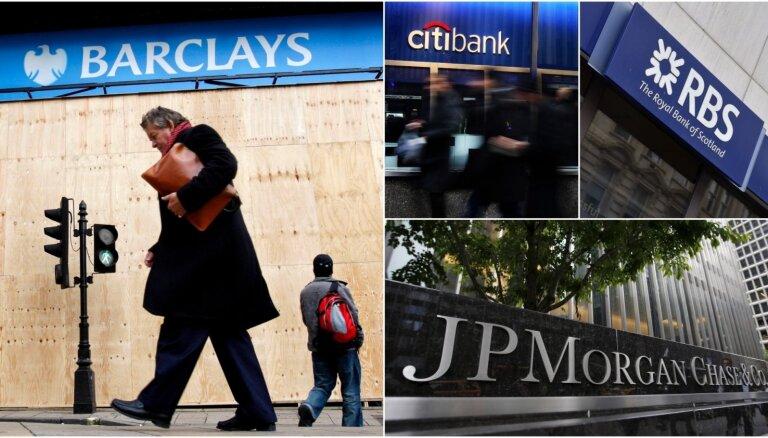 Šveices regulators piecām bankām noteicis sodus 80 miljonu eiro apmērā