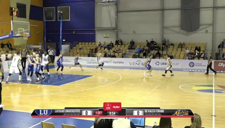 'OlyBet' basketbola līga: LU - 'Kalev/Cramo'. Pilns ieraksts