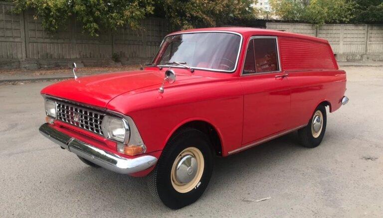 Foto: Retu 70. gadu 'Moskvič' furgonu Krievijā tirgo par 28 tūkstošiem eiro