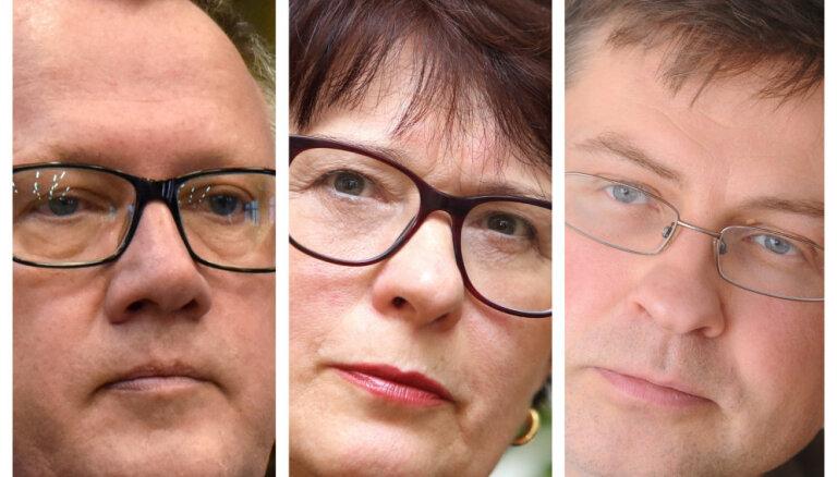 """Лидерами """"Нового Единства"""" на выборах в Европарламент будут Домбровскис, Калниете и Ашераденс"""
