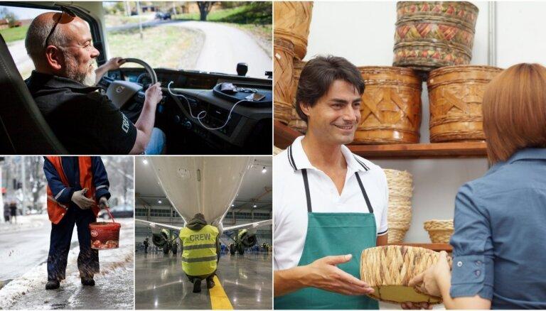 Jaunākais reitings: izplatītākās profesijas Latvijā pērn