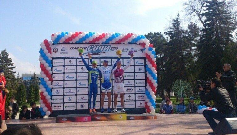 Andrijanovs izcīna trešo vietu 'Grand Prix Sochi' daudzdienu velosacensību pirmajā posmā