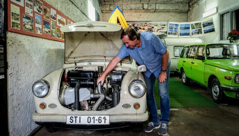 Īsta 'Trabant' auto smarža, un kur latvietim braukt pirkt savu 'Saksijas poršu'