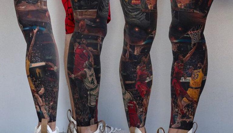 ФОТО: Фанат НБА показал крутую татуировку с изображением Леброна Джеймса