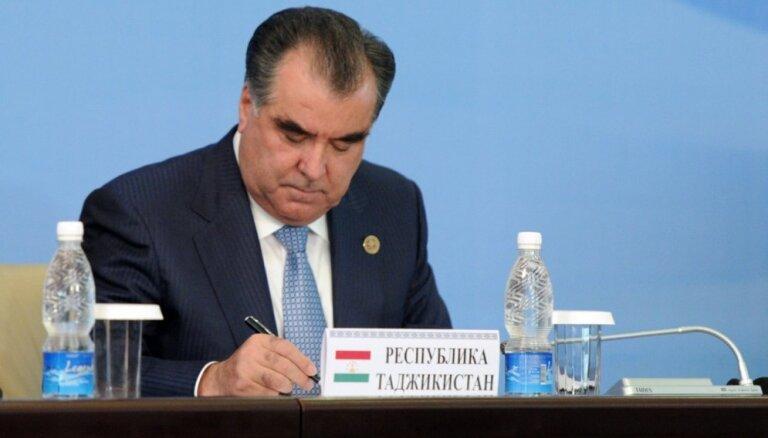 Tadžikistānā masu amnestijā apžēlos 20 tūkstošus notiesāto