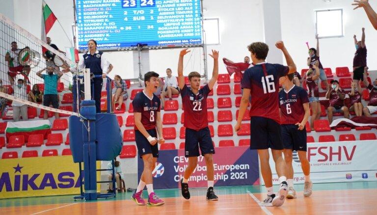 Latvijas volejbola izlase cīnīsies par septīto vietu Eiropas U-17 čempionātā