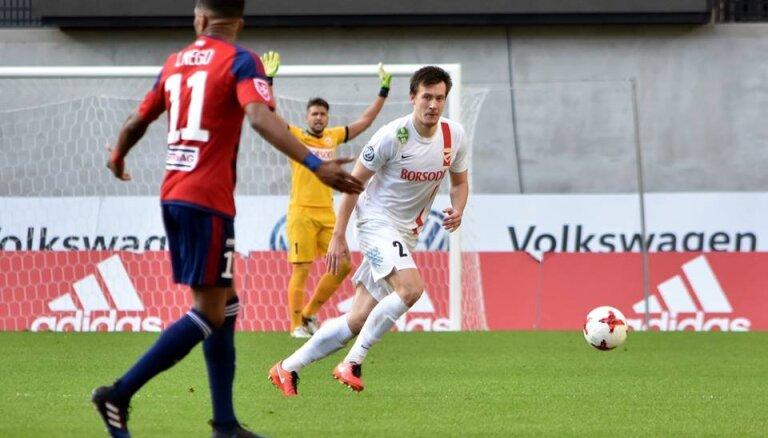 ВИДЕО: Защитник сборной Латвии забил автогол