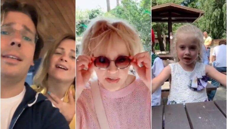 ВИДЕО: Галкин, Пугачева и Николаев отвели детей в Рижский зоопарк