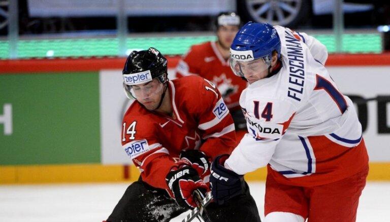 Video: Kanāda uzvar un apgrūtina čehiem iekļūšanu ceturtdaļfinālā