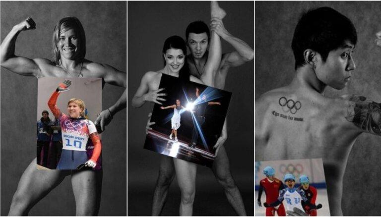 Olimpiskie atlēti no Krievijas atkailinās provokatīvā foto projektā