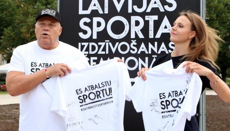 Sportisti un sporta organizācijas akcijā 'Es atbalstu sportu!' prasa pārmaiņas nozarē