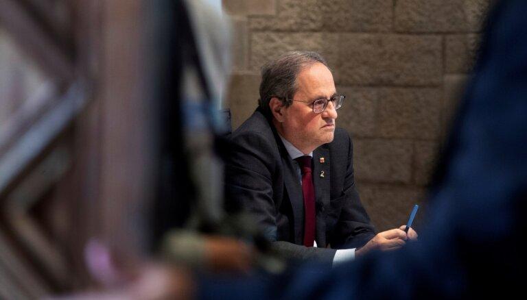 Katalāņu premjeram Torram aizliedz ieņemt publiskus amatus