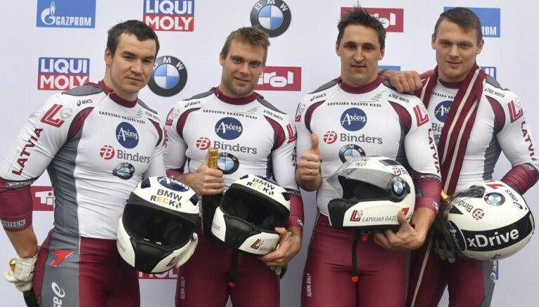 Латвийский экипаж Мелбардиса выиграл этап Кубка мира в Иглсе